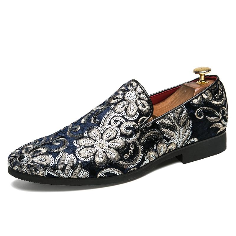 Ericdress Flocking Sequin Men's Dress Shoes