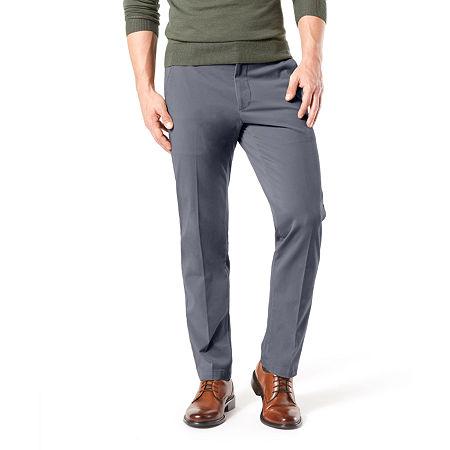Dockers Men's Straight Fit Workday Khaki Smart 360 Flex Pants D2, 34 34, Blue