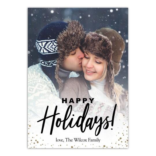Gartner Studios® Personalized Family Holiday Christmas Flat Photo Card | Michaels®