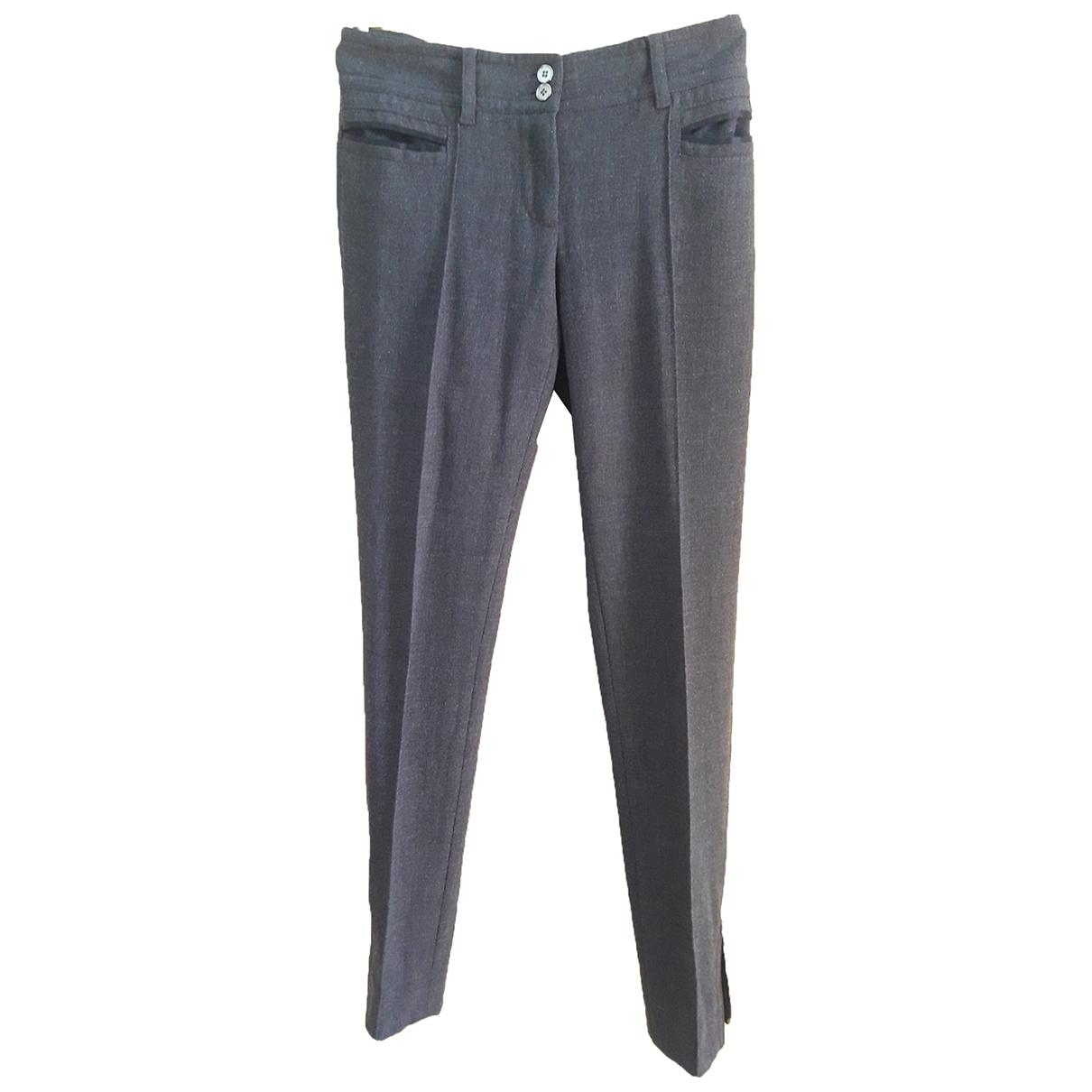 Dolce & Gabbana \N Grey Wool Trousers for Women 38 IT