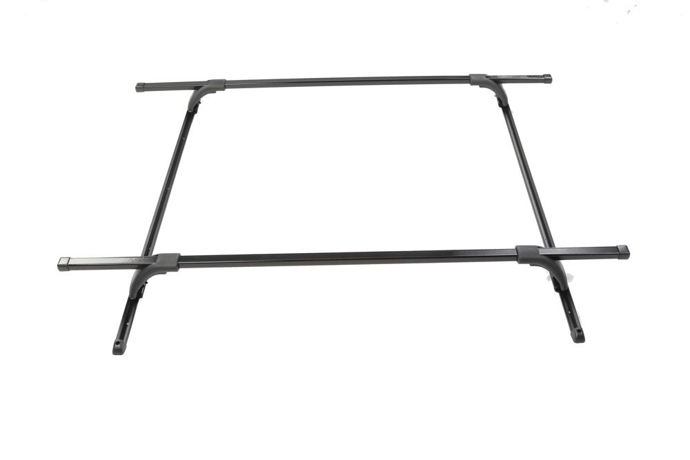 Roof Rack Complete Ready To Install 180 Lb Capacity Kit Black 55 Inch Crossbars and 60 Inch Side Rails SportQuest Perrycraft SQ5560-B