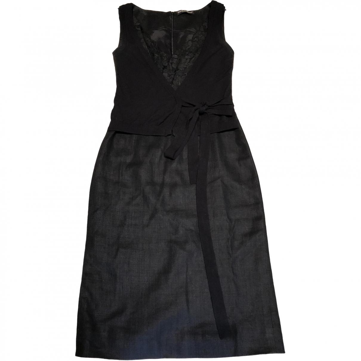Dolce & Gabbana \N Black Linen dress for Women 40 IT
