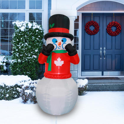 Christmas Inflatable Shaking Snowman with Lights + Blower, 6ft - Airblown