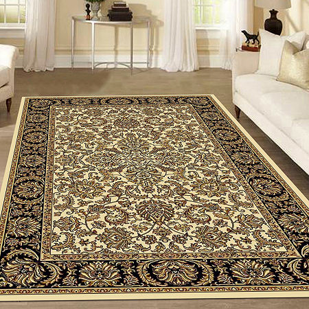 Noble Kashan Traditional Oriental Area Rug, One Size , White