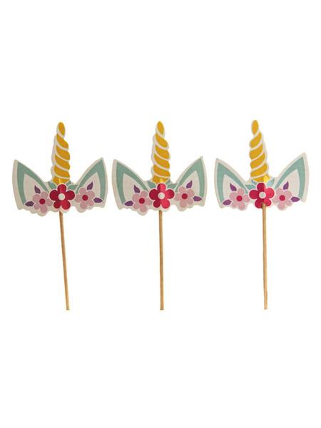Milanoo Unicorn Cake Toppers Baby Kids Birthday Party Decors Halloween