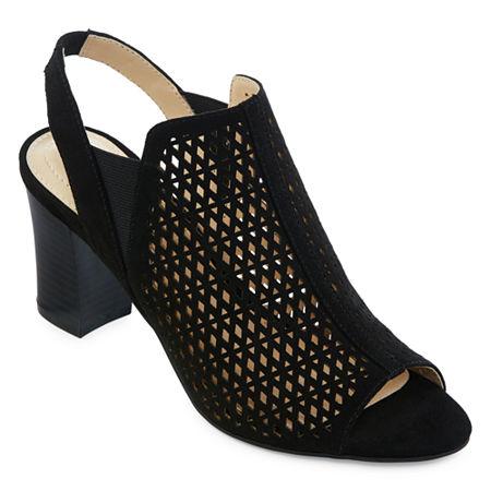 Liz Claiborne Womens Gamma Booties Block Heel, 12 Medium, Black