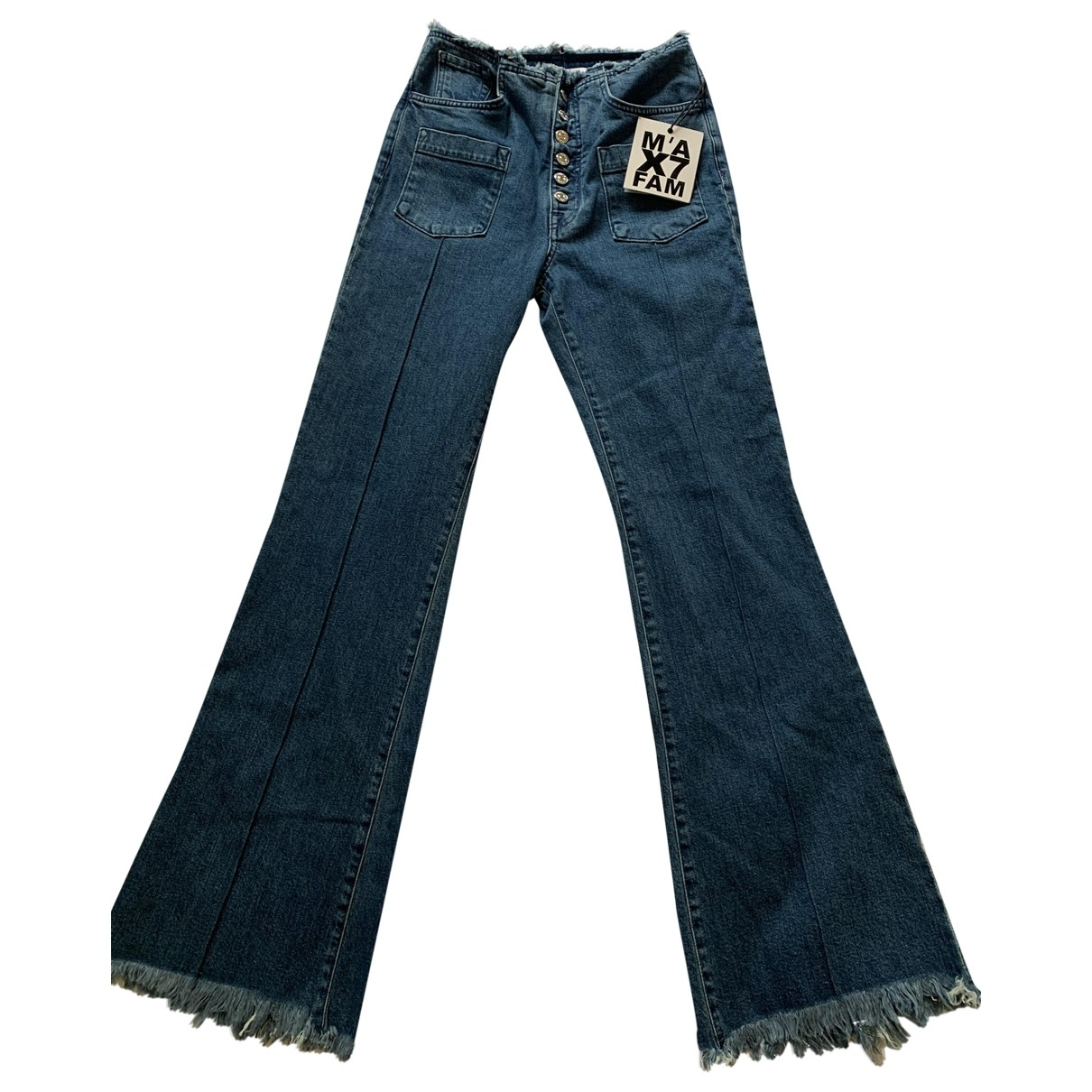 7 For All Mankind \N Blue Denim - Jeans Jeans for Women 27 US