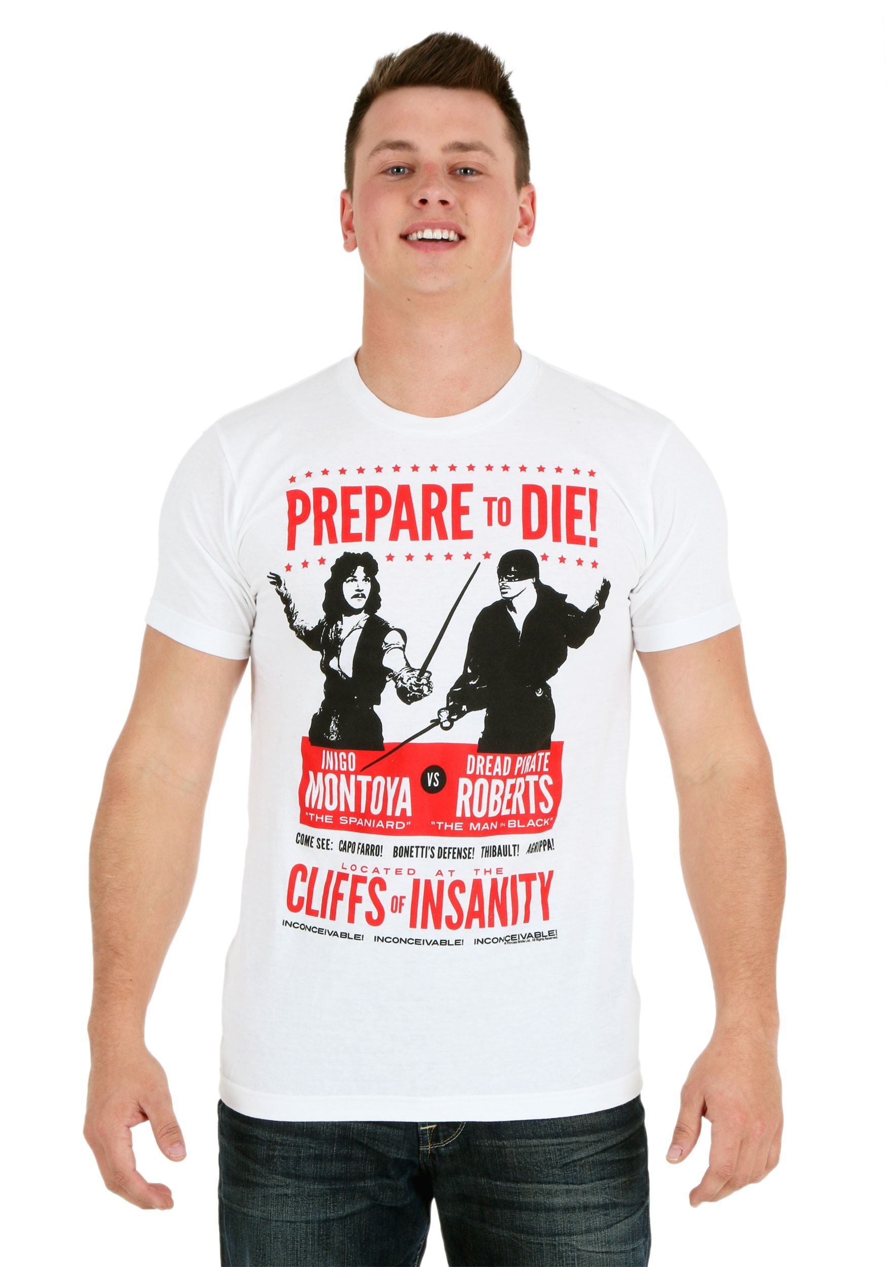 Princess Bride Prepare To Die Poster Men's T-Shirt