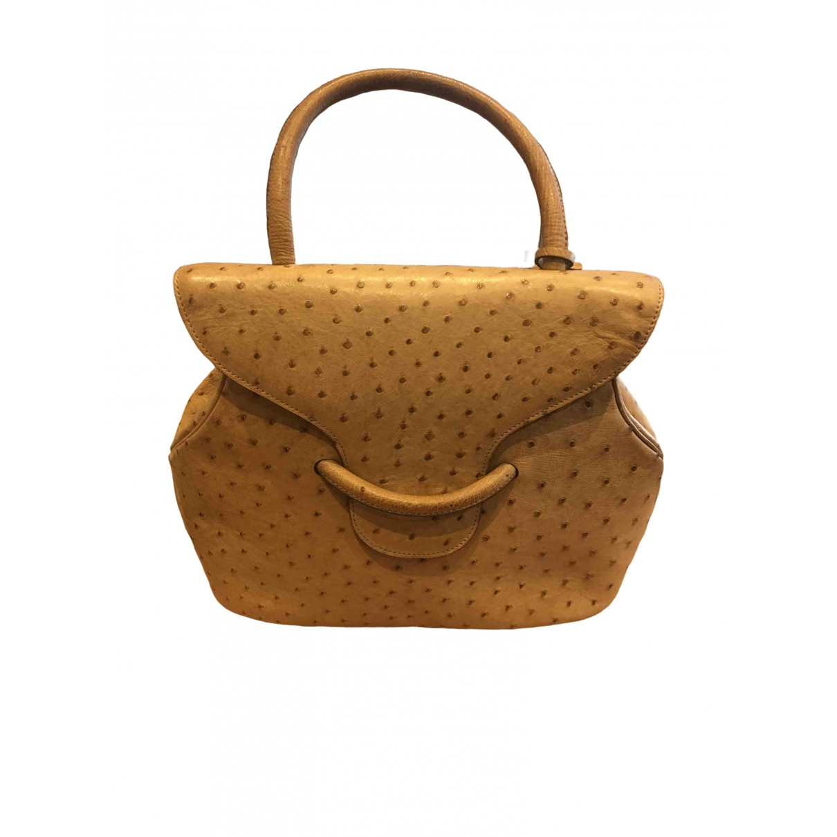 Delvaux \N Camel Ostrich handbag for Women \N