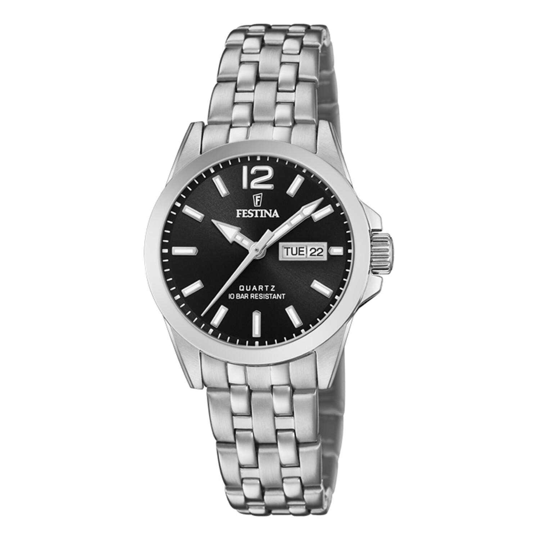 Festina Women's Classics F20455-4F37 Black Stainless-Steel Quartz Dress Watch