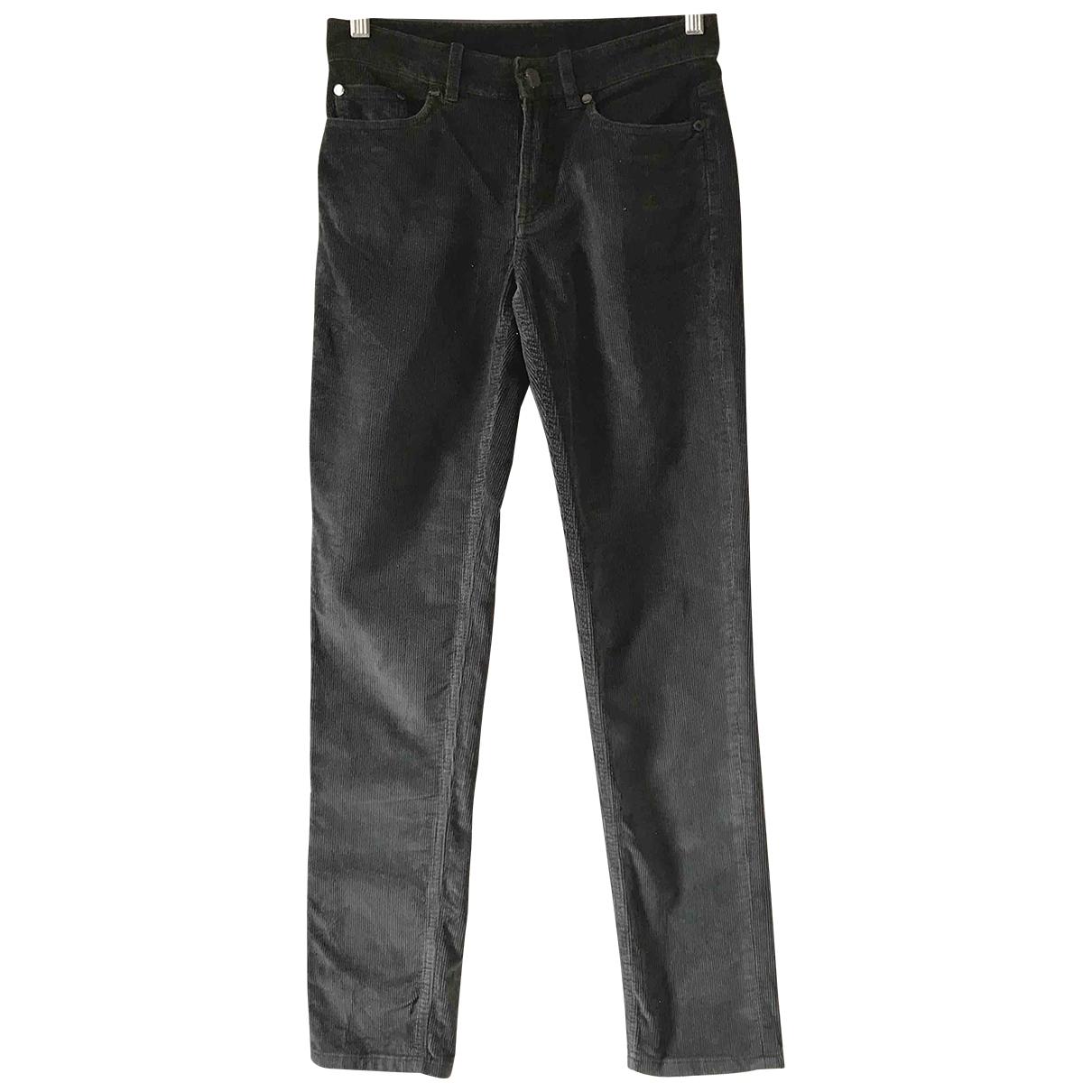 Loro Piana \N Grey Velvet Trousers for Women 40 IT