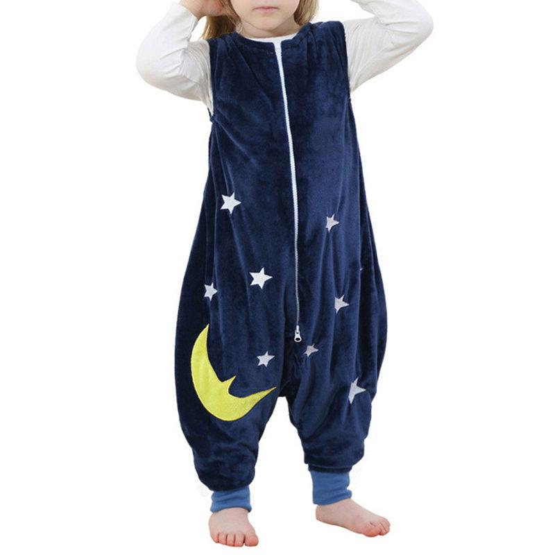 Fleece Toddler Pajamas Girls Boys Zipper Jumpsuit For 1Y-6Y