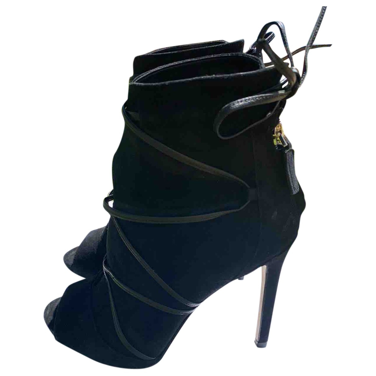 Guess \N Black Suede Ankle boots for Women 37 EU