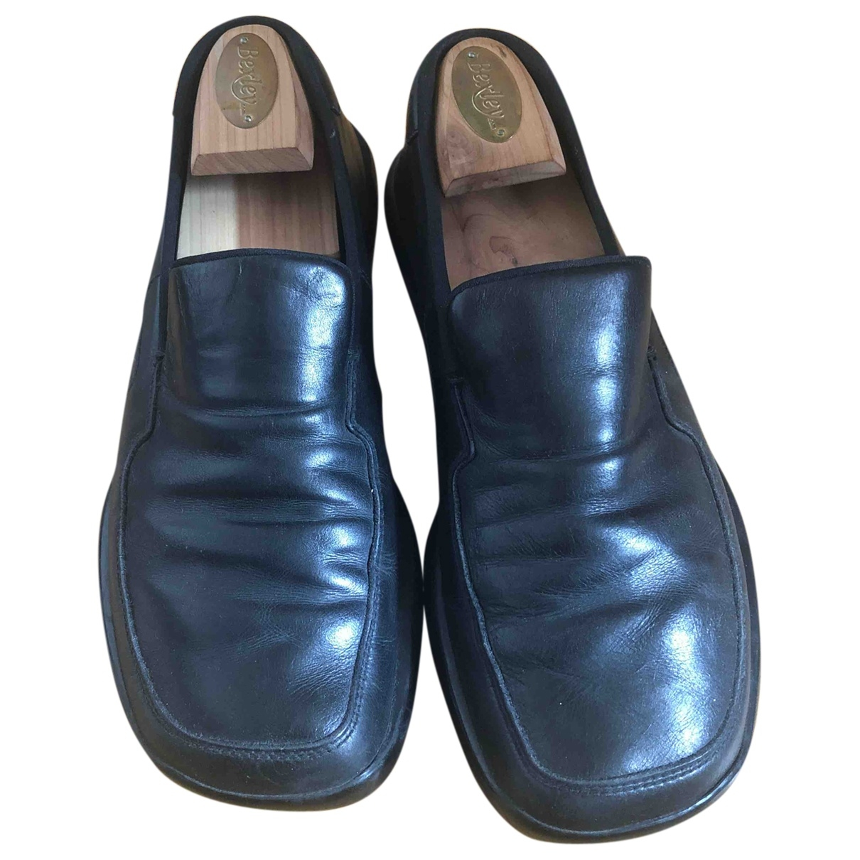 Prada \N Black Leather Flats for Men 42 EU