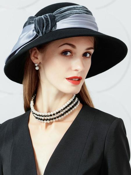 Milanoo Cloche Hat Vintage Wool Hat For Women