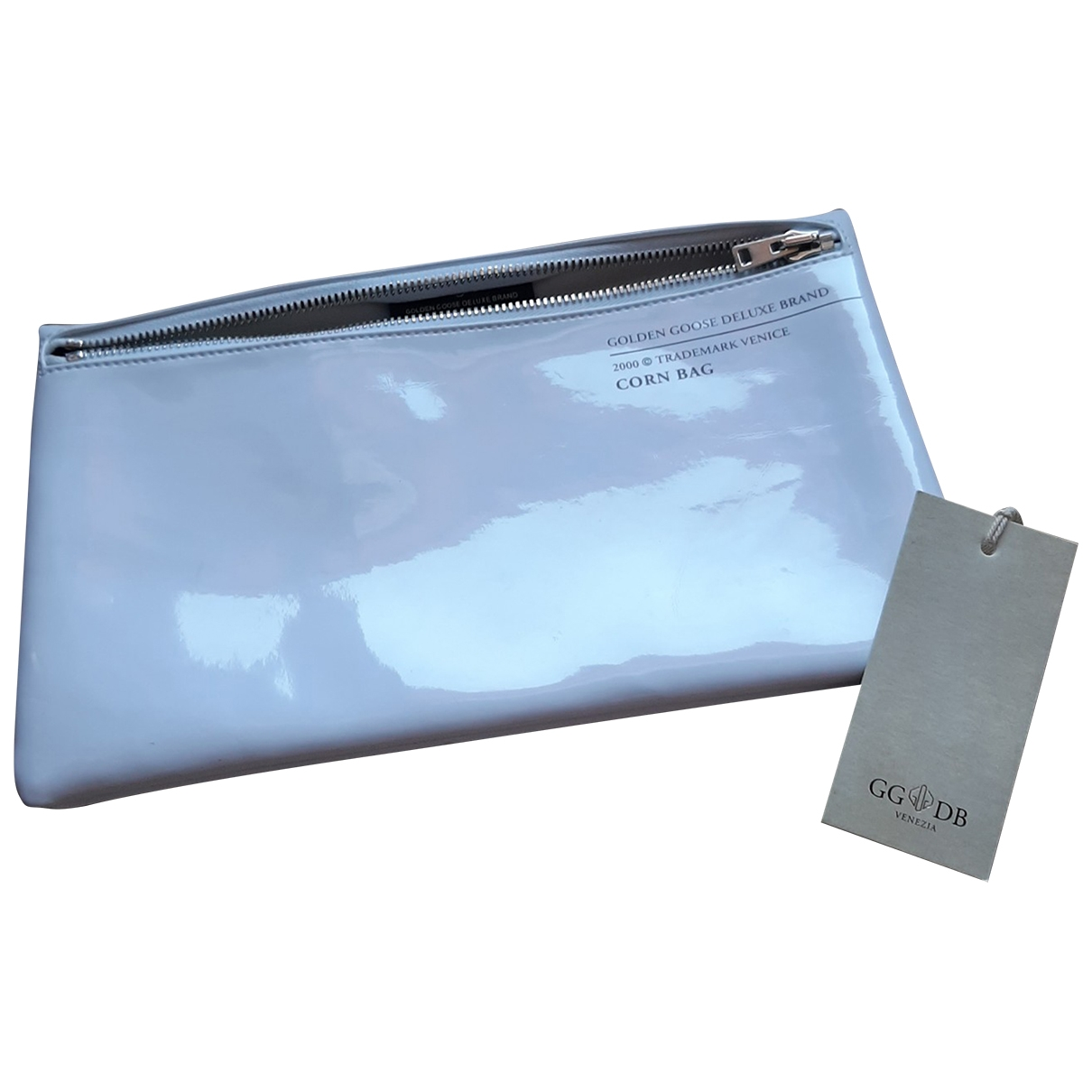 Golden Goose \N White Patent leather Clutch bag for Women \N