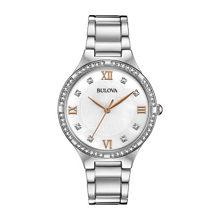 Bulova Womens Silver Tone Stainless Steel Bracelet Watch-96l264, One Size , No Color Family