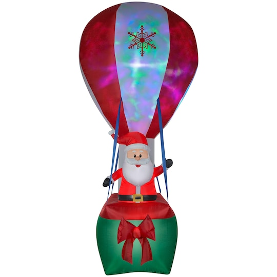 12Ft Airblown® Inflatable Christmas Santa In Hot Air Balloon With Northern Sky Light Show By Gemmy Industries | Michaels®