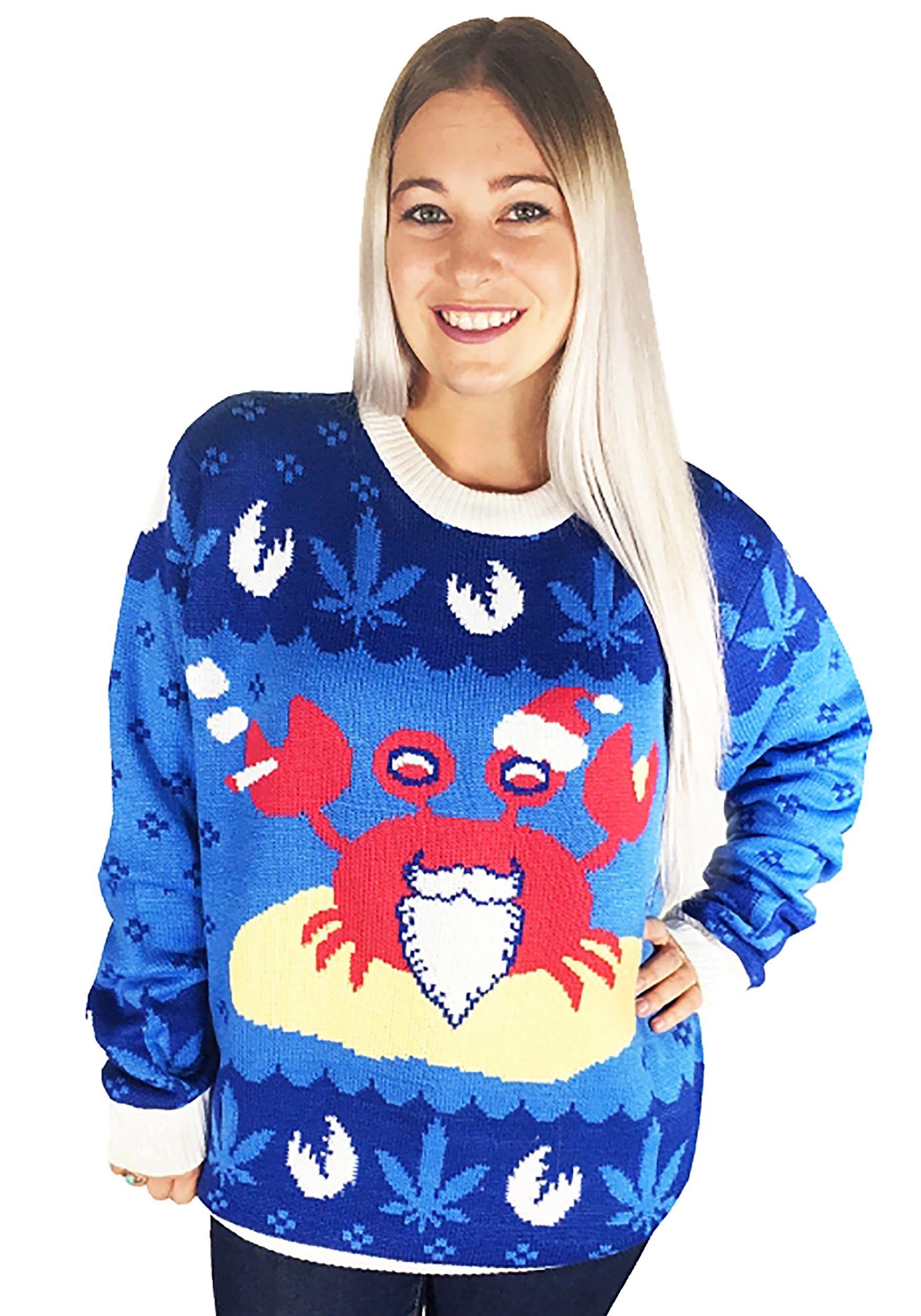 The Mistah Sandy Claws Crab Ugly Christmas Sweater