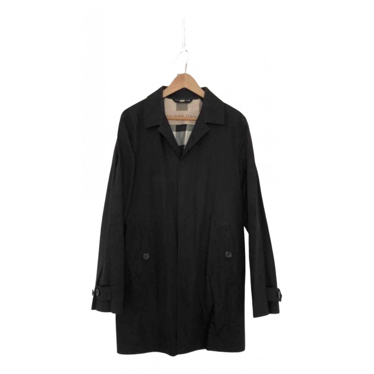 Burberry \N Black Cotton coat  for Men M International