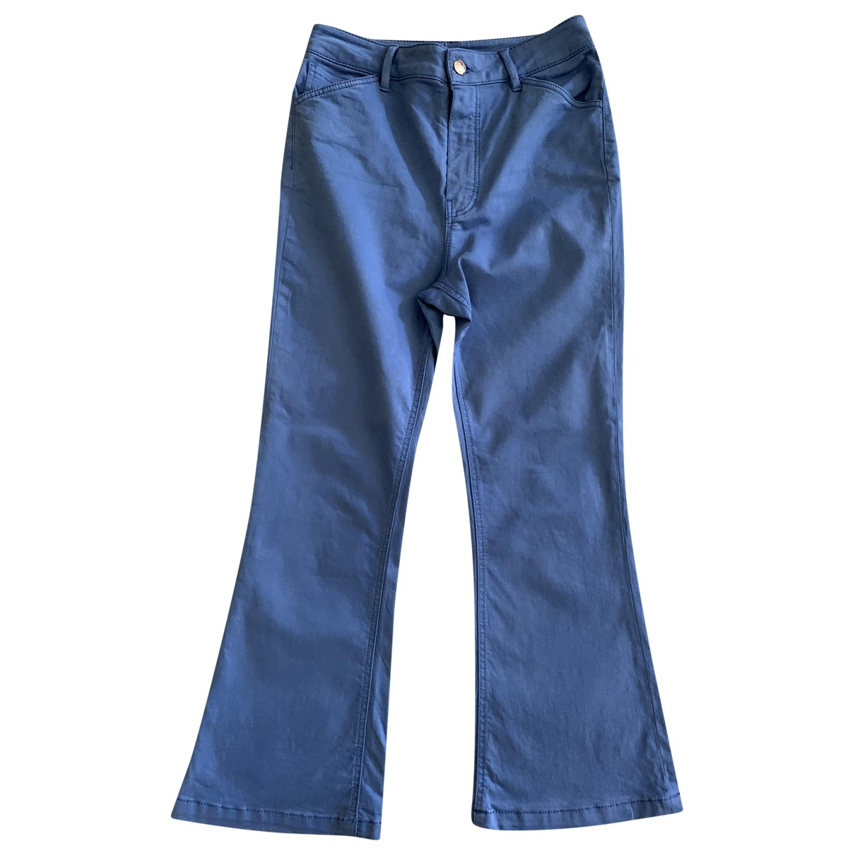 Massimo Dutti \N Blue Cotton Trousers for Women 4 US