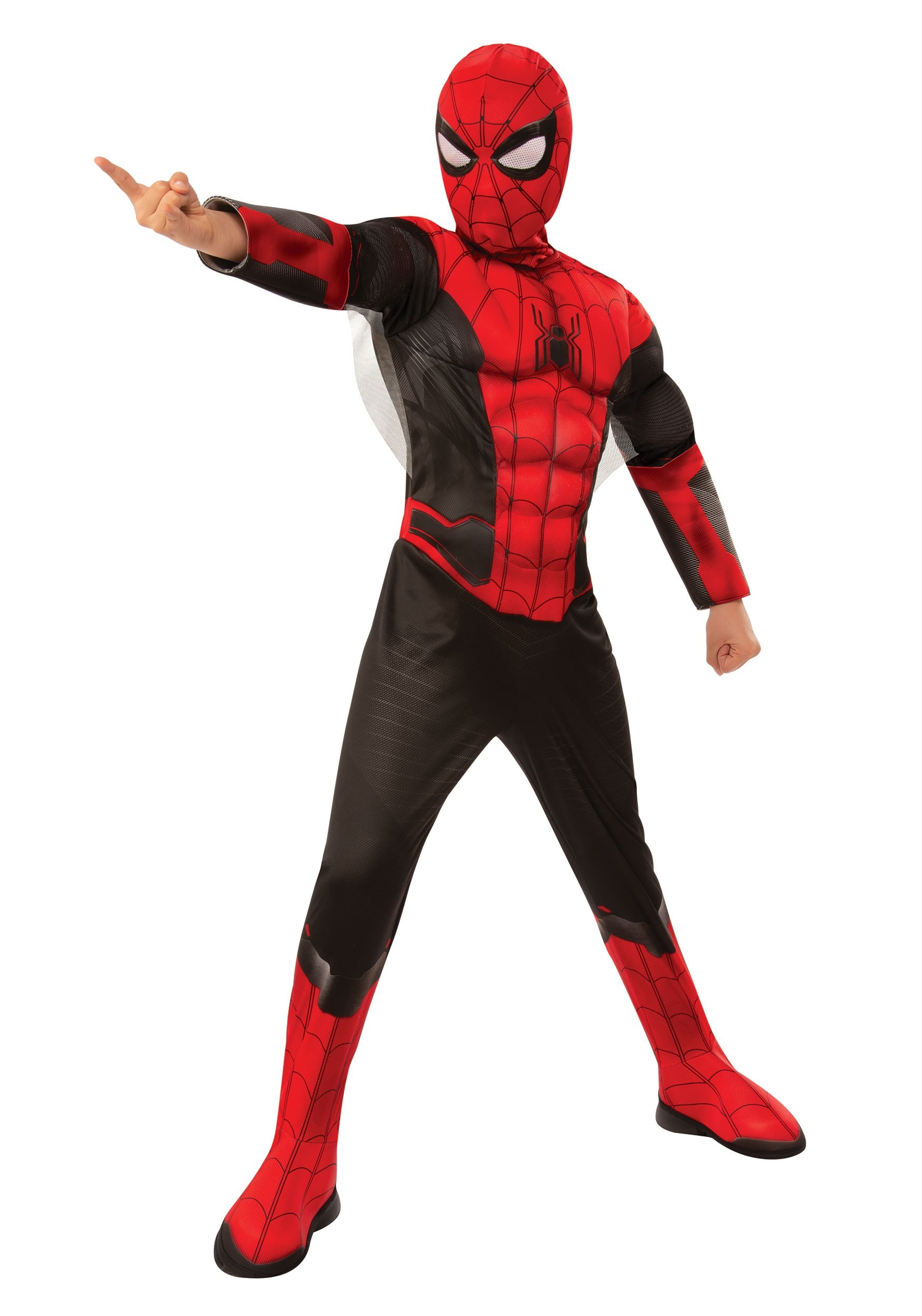 Spider-Man Far From Home Child Red and Black Spider-Man Deluxe Costume