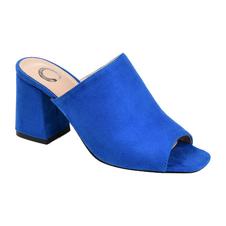 Journee Collection Womens Adelaide Slide Sandals, 6 Medium, Blue