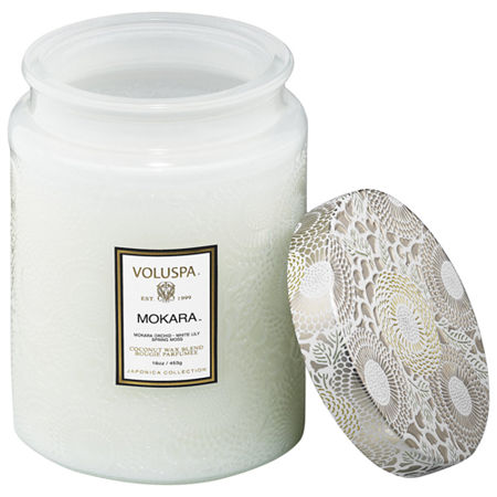 VOLUSPA Mokara Large Glass Jar Candle, One Size , Multiple Colors