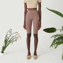 Cotton Blend Slogan & Geo Print Biker Shorts