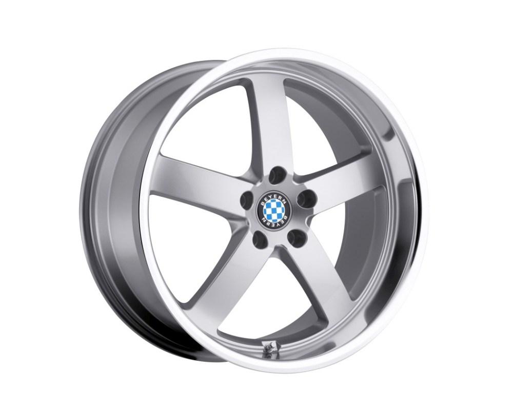 Beyern Rapp Wheel 19x8.5 5x120 40mm Silver w/ Mirror Cut Lip