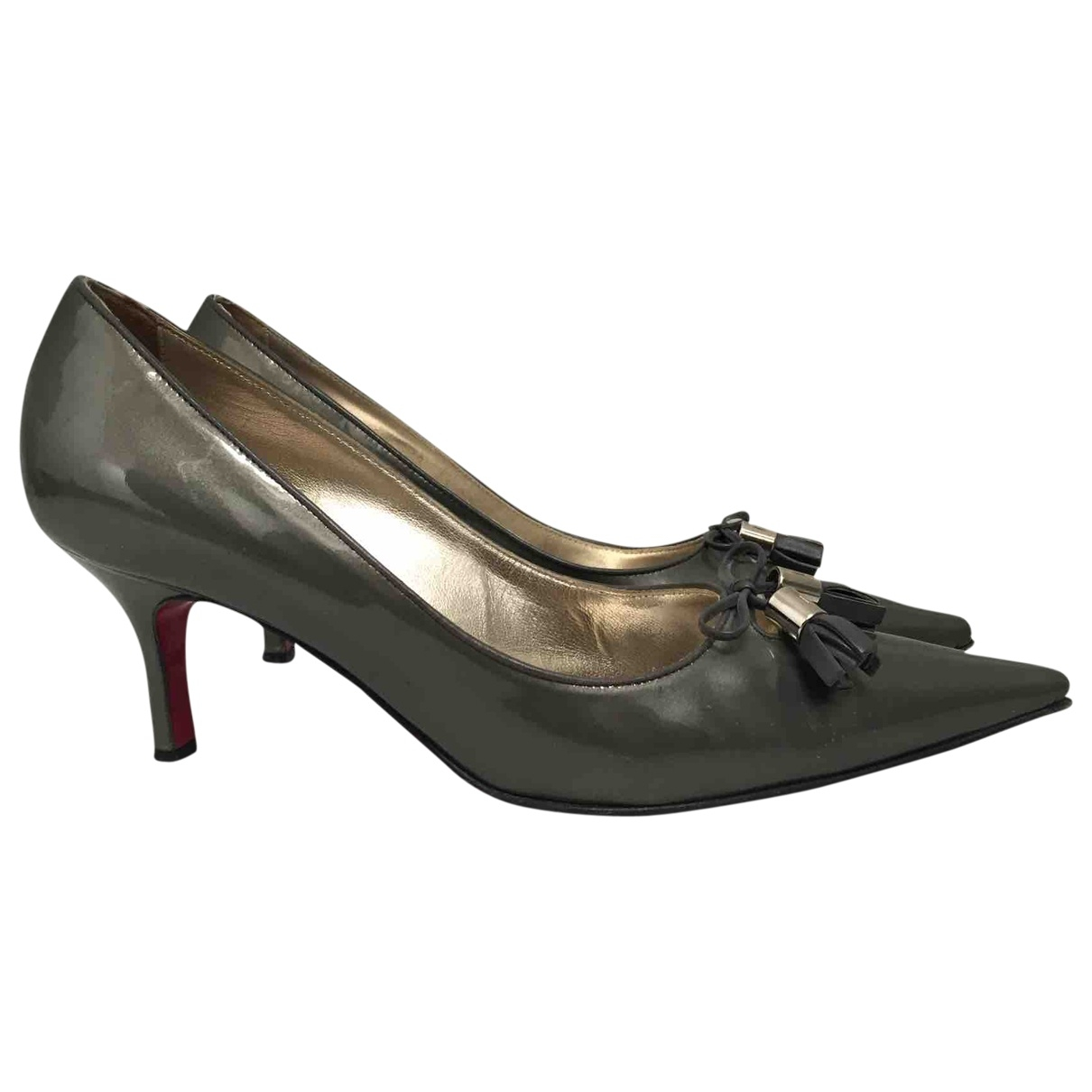 Luciano Padovan \N Grey Patent leather Heels for Women 36 EU