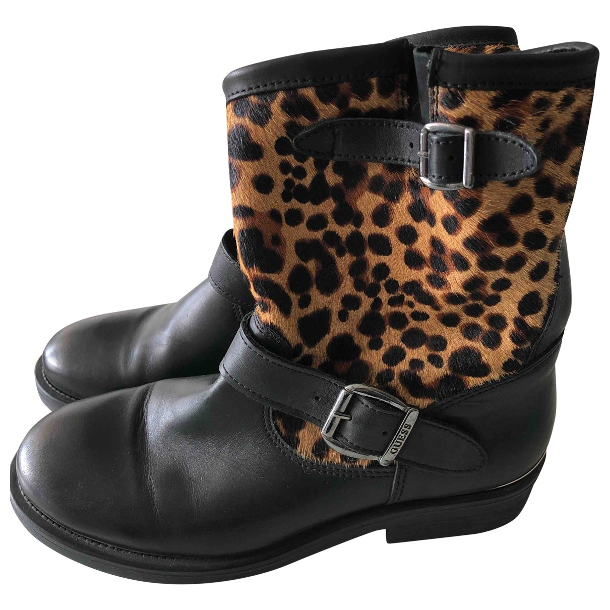 Guess \N Black Leather Boots for Women 39 EU