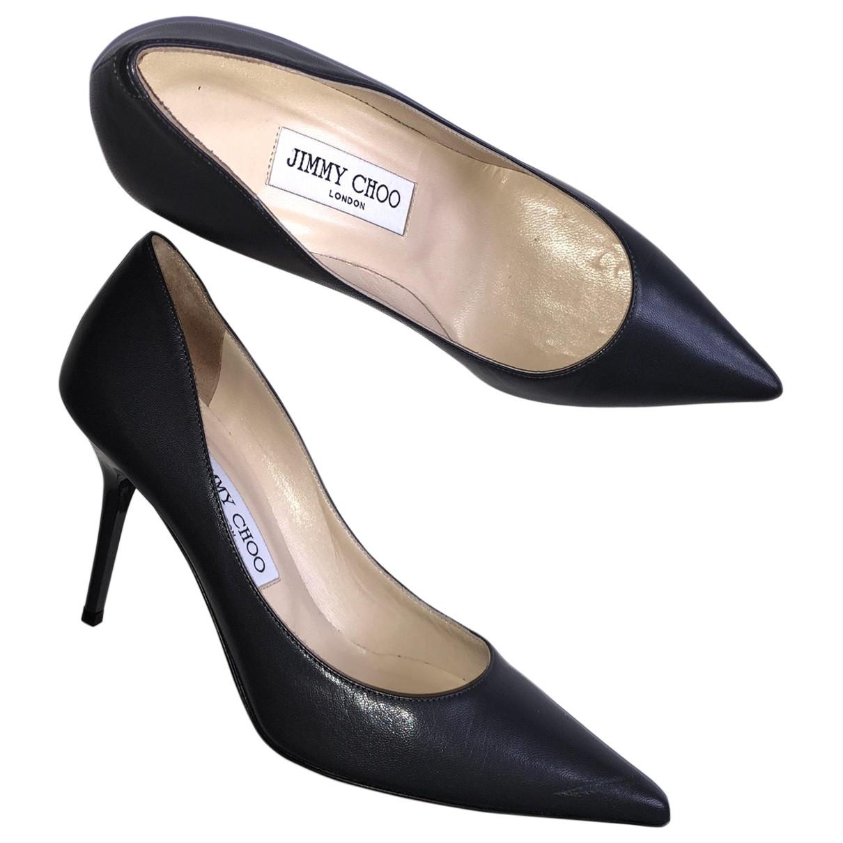 Jimmy Choo Anouk Grey Leather Heels for Women 36 EU