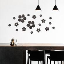 1set Flower Mirror Surface Wall Sticker