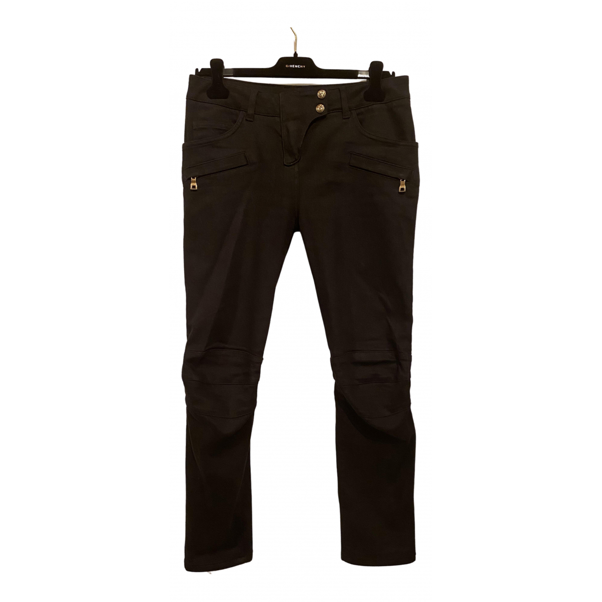 Balmain \N Black Denim - Jeans Trousers for Women 38 FR