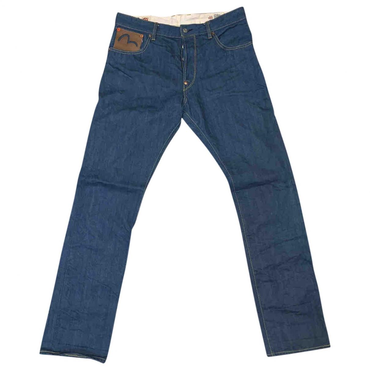 Evisu \N Blue Cotton Jeans for Men 32 US