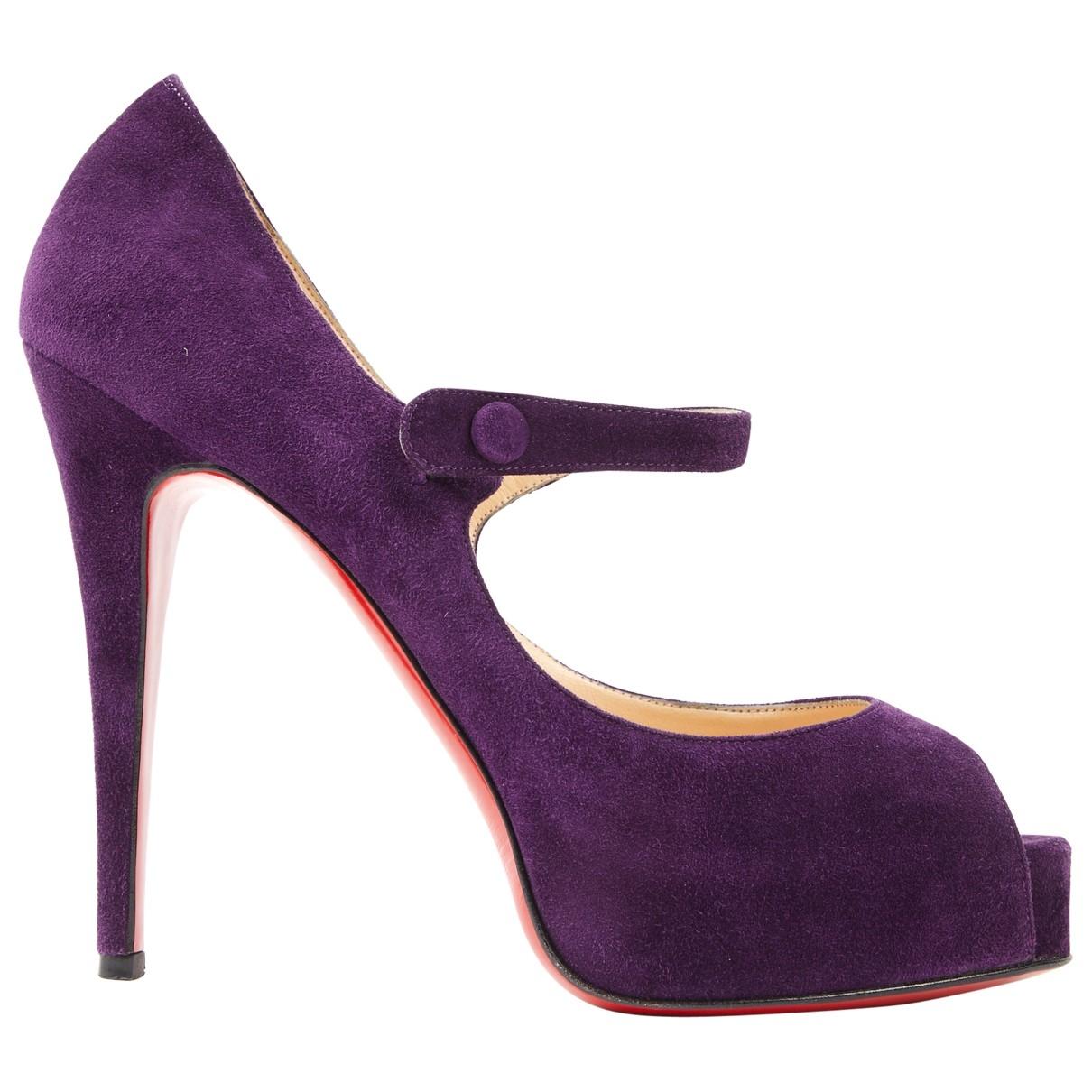 Christian Louboutin \N Purple Suede Heels for Women 39 EU