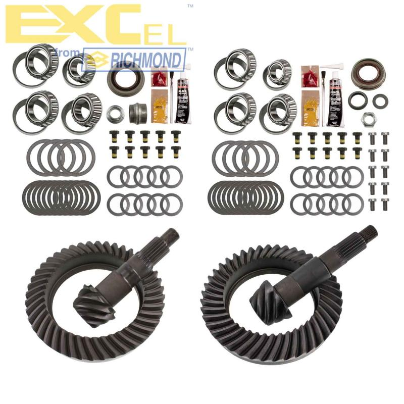 EXCEL XLK-5008 from Richmond Differential Ring and Pinion Front and Rear Complete Kit Jeep Wrangler N/A 2007-2017