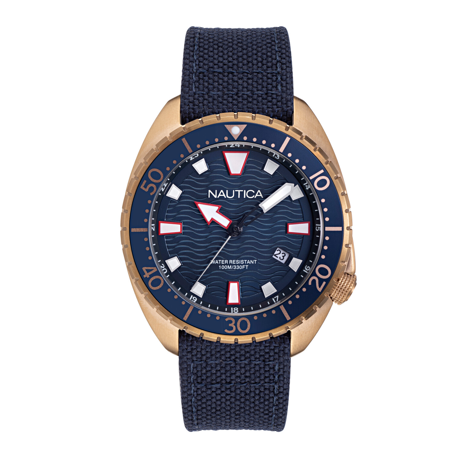Nautica Men's Hammock NAPHAS903 Blue Cloth Quartz Fashion Watch