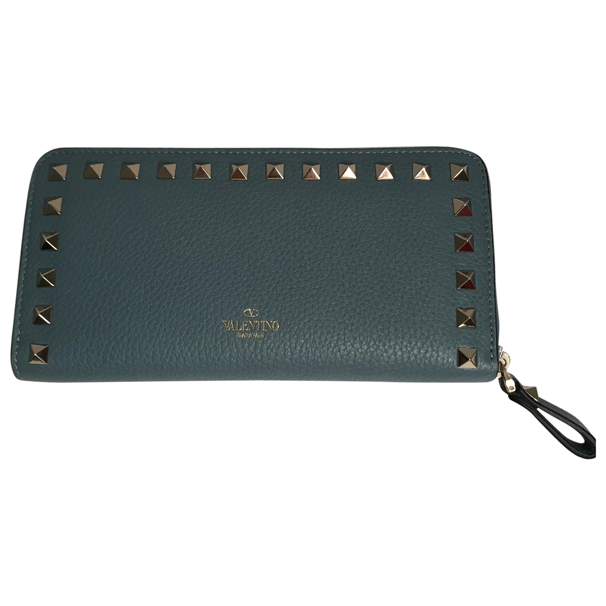 Valentino Garavani \N Blue Leather wallet for Women \N