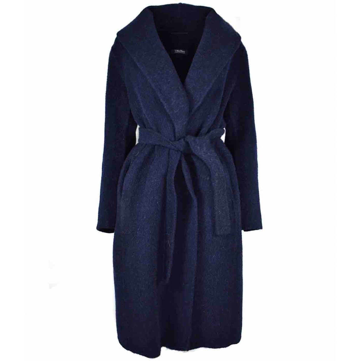 Max Mara \N Navy Wool coat for Women 44 FR