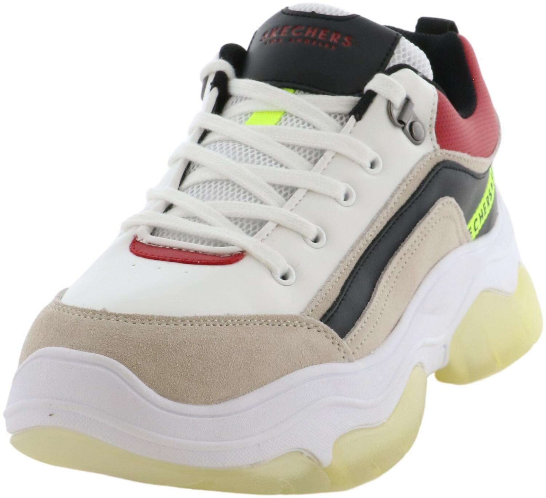 Skechers Women's Amp'd - City Blocks White / Black Red Ankle-High Sneaker 7.5M