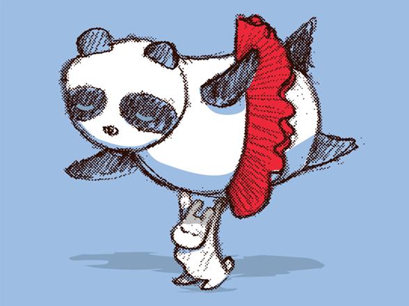 Panda Loves Ballet T Shirt