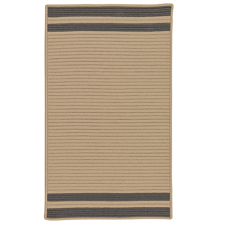 Colonial Mills Sonoma Accent Stripe Braided Rectangular Reversible Indoor/Outdoor Rugs, One Size , Gray