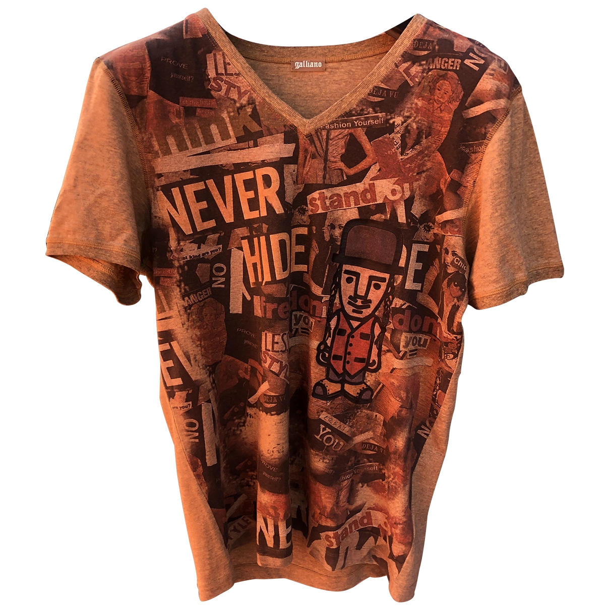 John Galliano \N Brown Cotton T-shirts for Men L International