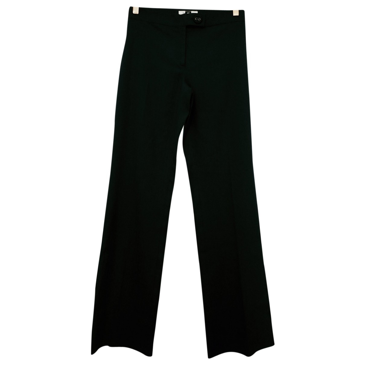 Marella \N Black Wool Trousers for Women 38 FR