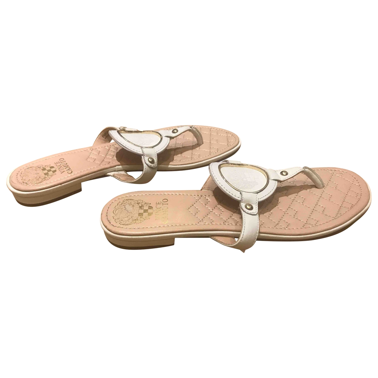 Vince Camuto \N White Leather Sandals for Women 38.5 EU
