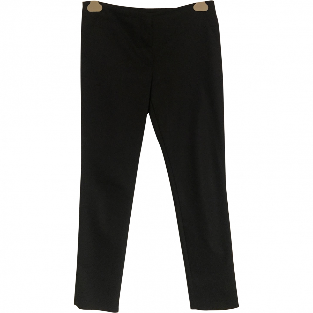The Row \N Black Cotton Trousers for Women 4 US