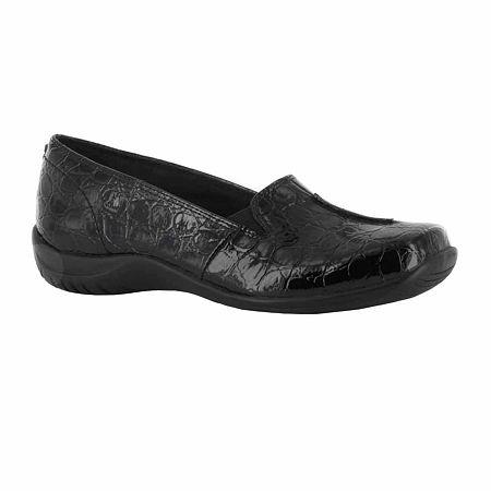 Easy Street Womens Purpose Slip-On Shoe, 11 Medium, Black