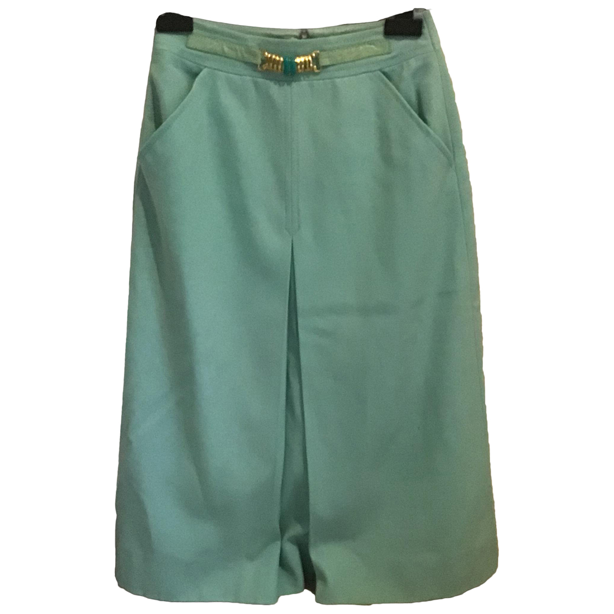 Celine \N Turquoise Wool skirt for Women 36 FR